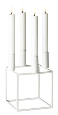 Decoration - Candles & Candle Holders - Kubus 4 Candelabra - Reissue 1962 by by Lassen - White - Lacquered steel