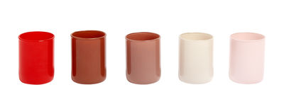 Decoration - Candles & Candle Holders - Spot Candle holder - / Set 5 - Glass by Hay - Red - Glass