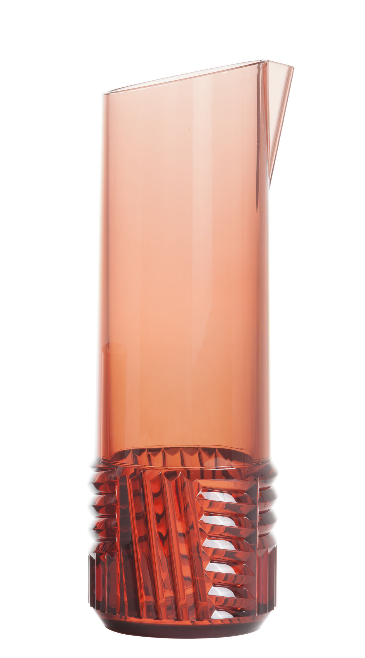 Tableware - Water Carafes & Wine Decanters - Trama Carafe - / 1 L by Kartell - Pink - Technopolymer