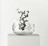 Centre de table Frutteti Papillons / Cristal & acier - Ø 21 cm - Opinion Ciatti