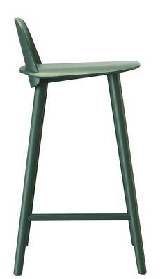 Chaise de bar Nerd H 65 cm Bois Muuto vert en bois