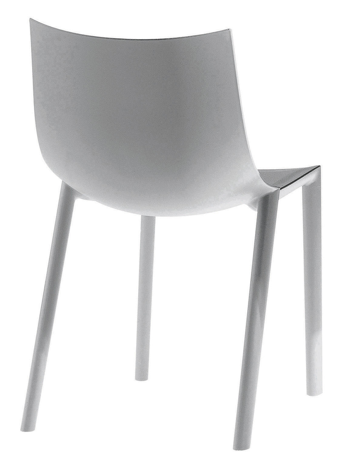 Chaise empilable bo plastique gris driade made in design for Chaise empilable plastique