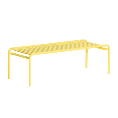 Furniture - Coffee Tables - Week-End Coffee table - / Wide - 127 x 51 cm by Petite Friture - Pale yellow - Powder coated epoxy aluminium