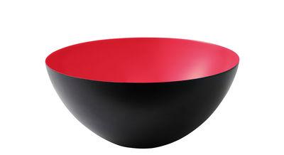 Arts de la table - Saladiers, coupes et bols - Coupelle Krenit / Ø 8,4 x H 4 cm - Acier - Normann Copenhagen - Noir / Intérieur corail - Acier émaillé