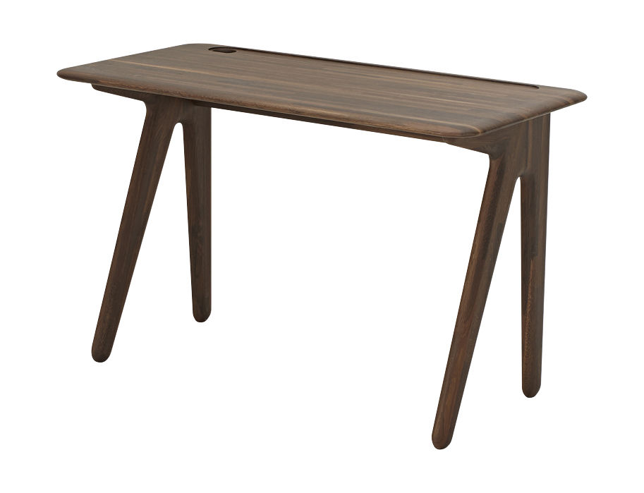 Furniture - Office Furniture - Slab Desk - Oak by Tom Dixon - Smoked oak - Smoked solid oak
