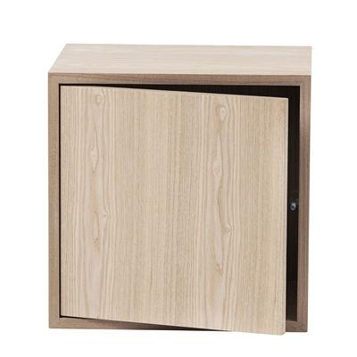 Mobilier - Etagères & bibliothèques - Etagère Stacked 2.0 / Medium carré 43x43 cm / Avec porte - Muuto - Chêne - MDF placage chêne