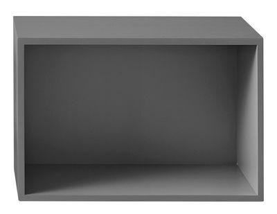Mobilier - Etagères & bibliothèques - Etagère Stacked 2.0 / Large rectangulaire 65x43 cm / Avec fond - Muuto - Gris - MDF peint