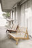 Fauteuil lounge MR01 Initial / Chêne & corde - Gubi