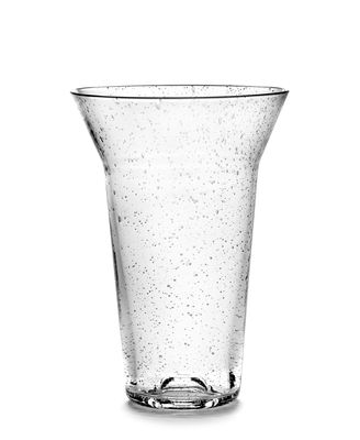 Tableware - Wine Glasses & Glassware - Large Glass - / Ø 10 x H 15 cm by Serax - H 15 cm / Transparent - Recycled glass