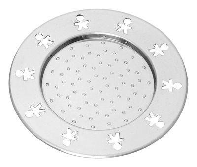 Tischkultur - Gläser - Mini Girotondo Glasuntersetzer Einzelstück - A di Alessi - Edelstahl glänzend - polierter rostfreier Stahl
