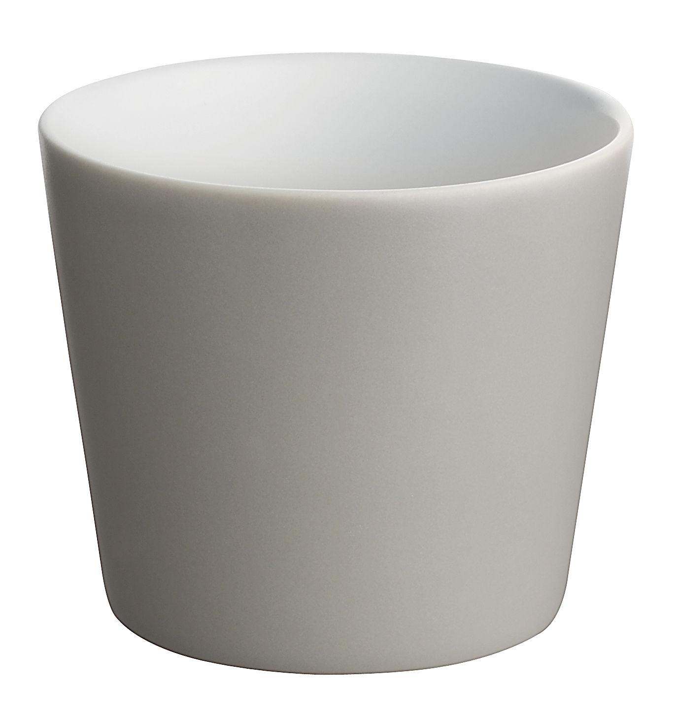 Arts de la table - Verres  - Gobelet Tonale / 20 cl - Alessi - Gris clair / intérieur blanc - Céramique Stoneware
