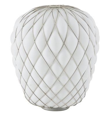 Lampe de table Pinecone / Ø 50 x H 52 cm - Verre & résille métal - Fontana Arte blanc en verre