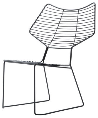 Furniture - Armchairs - Alieno Low armchair by Casamania - Black - Varnished metal