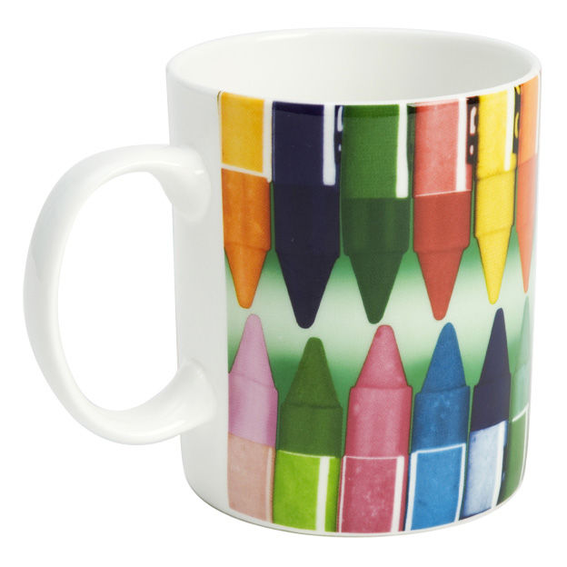 Tableware - Coffee Mugs & Tea Cups - Eames Mug - Mug by W2 Products - Crayons - White & multicoloured - China