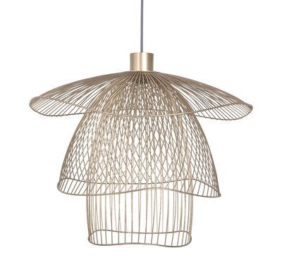 Lighting - Pendant Lighting - Papillon Small Pendant - / Ø 56 cm by Forestier - Champagne - Powder coated steel