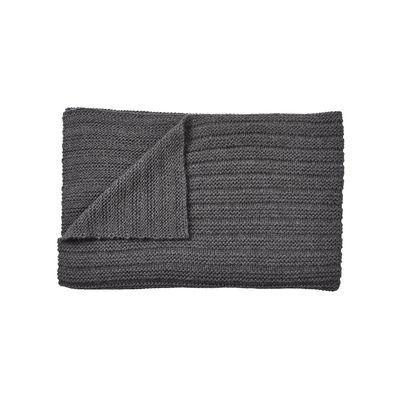 Decoration - Bedding & Bath Towels - Ample Plaid - / Hand-knitted baby llama wool - 160 x 130 cm by Muuto - Dark grey - Baby llama wool