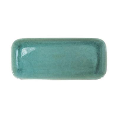 Plat à cake Tourron / 33 x 15 cm - Grès fait main - Jars Céramistes vert en céramique