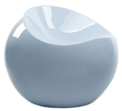 Furniture - Poufs & Floor Cushions - Ball Chair Pouf by XL Boom - Storm grey - Recycled lacquered ABS