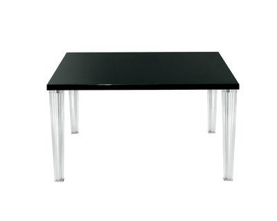 Möbel - Tische - Top Top quadratischer Tisch 130 cm - Glasplatte - Kartell - Glas schwarz - Glas, PMMA