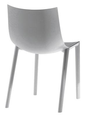 Image of Sedia impilabile Bo di Driade - Grigio - Materiale plastico