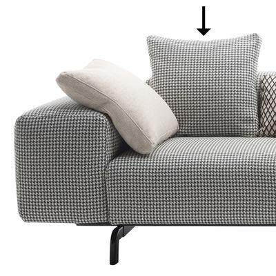 Dekoration - Kissen - Sofa Zubehör / 48 x 48 cm - Kartell - Hahnentrittmuster / schwarz - Gewebe