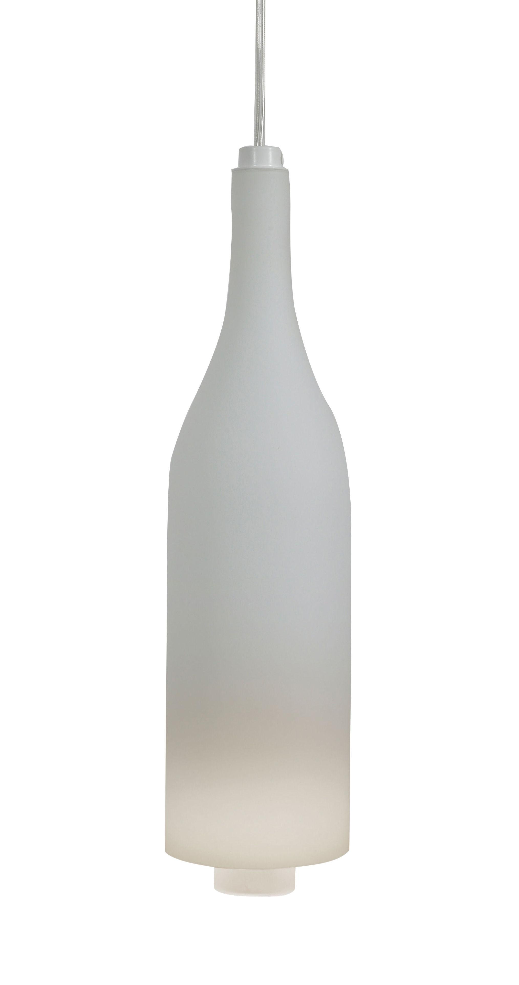 Illuminazione - Lampadari - Sospensione Bacco - / Vetro satinato - H 34 x Ø 9 cm di Karman - Bianco - Vetro smerigliato