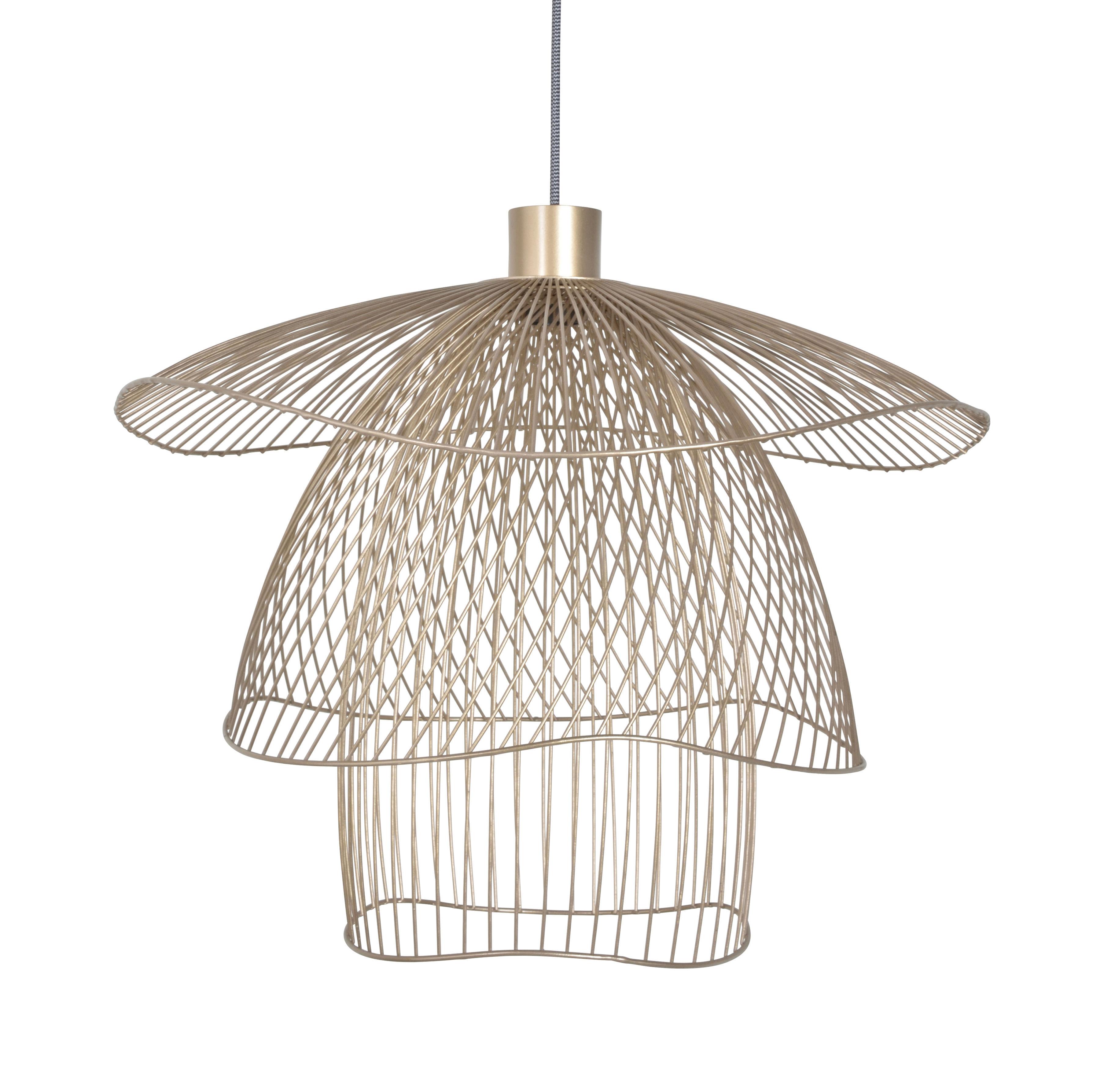 Illuminazione - Lampadari - Sospensione Papillon Small - / Ø 56 cm di Forestier - Champagne - Acciaio termolaccato