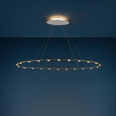 Illuminazione - Lampadari - Sospensione Petites Lentilles - / LED - 120 x 60 cm di Catellani & Smith - Ottone - Ottone, Vetro