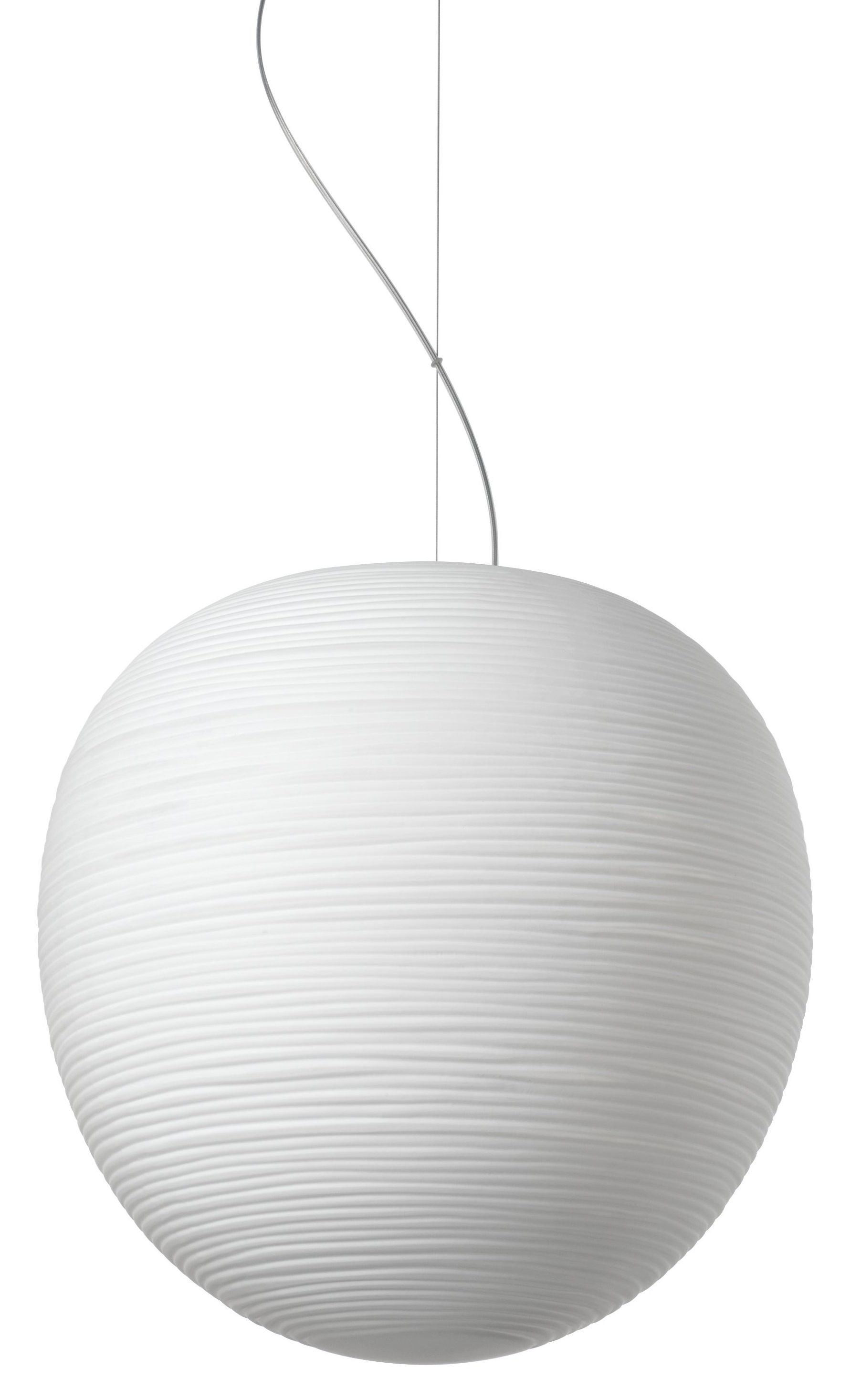 Illuminazione - Lampadari - Sospensione Rituals XL - / Ø 40 x H 41 cm di Foscarini - Bianco / Ø 40 x H 41 cm - Vetro soffiato a bocca