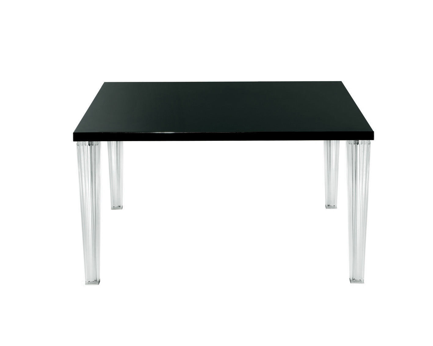 Furniture - Dining Tables - Top Top Square table - 130 cm - Glass top by Kartell - Black glass - Glass, PMMA