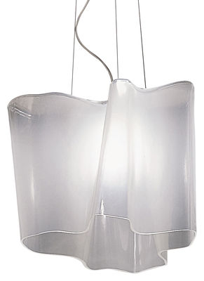 Suspension Logico grande / Simple - L 40 cm - Artemide blanc en verre