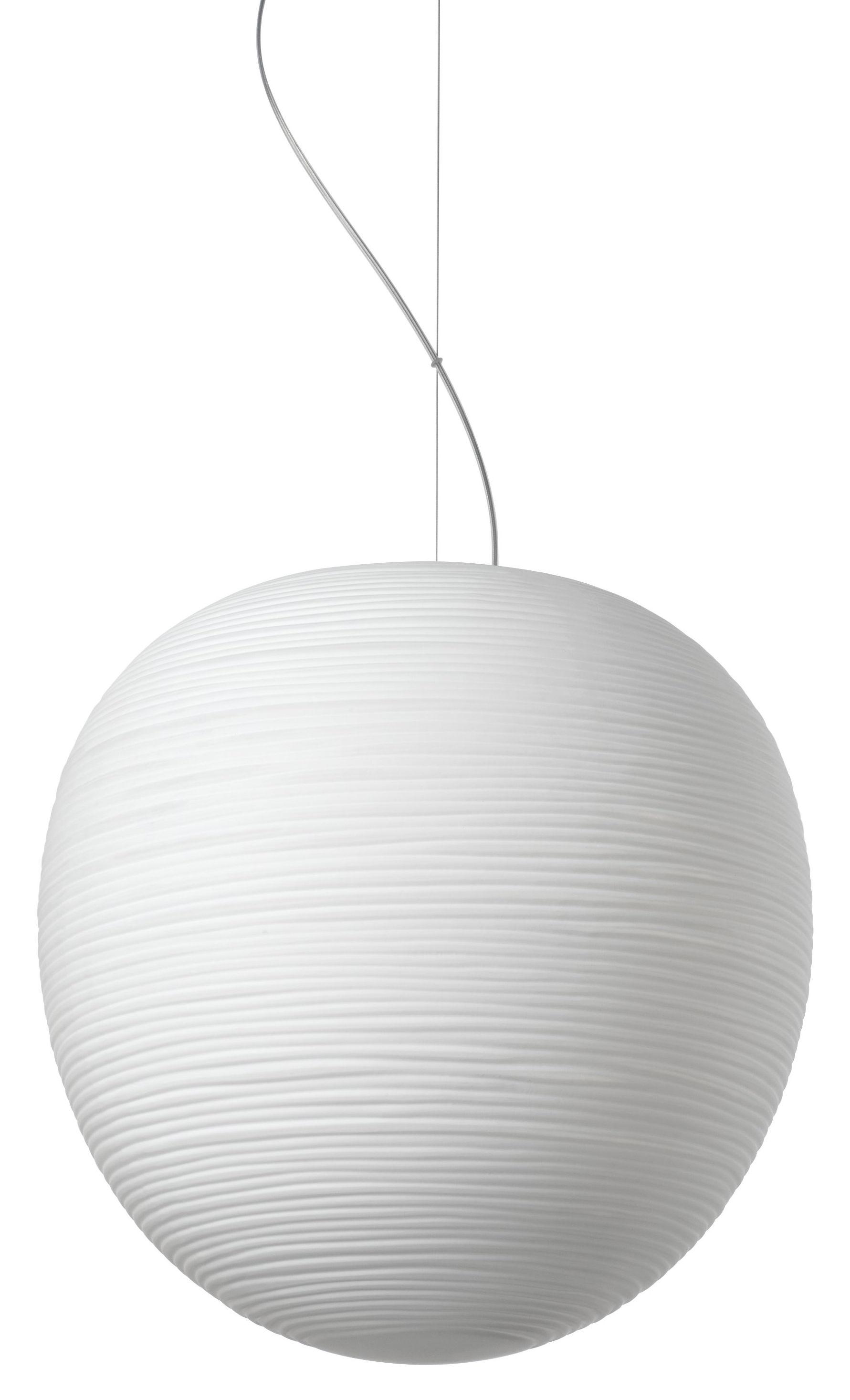 Luminaire - Suspensions - Suspension Rituals XL / Ø 40 x H 41 cm - Foscarini - Blanc / Ø 40 x H 41 cm - Verre soufflé bouche