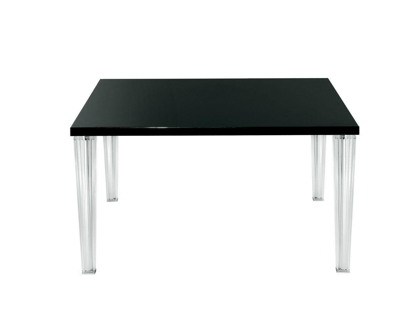 Rentrée 2011 UK - Must-have - Tavolo quadrato Top Top - 130 cm- Piano in vetro di Kartell - Vetro nero - PMMA, Vetro