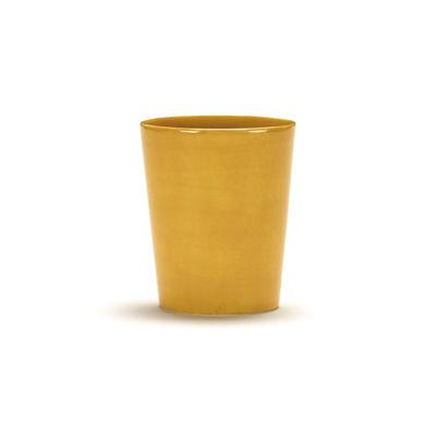 Tableware - Coffee Mugs & Tea Cups - Feast Teacup - / 33 cl by Serax - Plain / Yellow - Enamelled sandstone