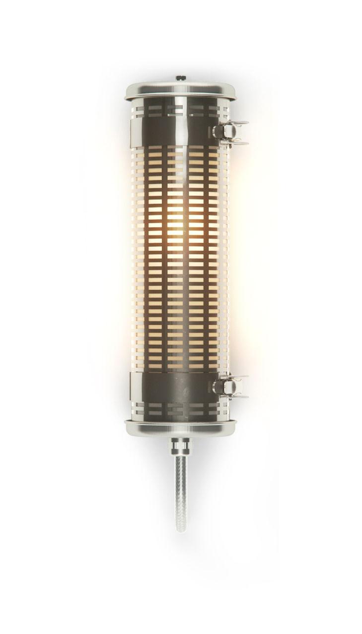 Leuchten - Wandleuchten - Gude Wandleuchte / L 36 cm - SAMMODE STUDIO - Stahl - eloxiertes Aluminium, Polykarbonat, rostfreier Stahl