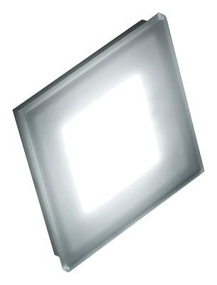 Illuminazione - Lampade da parete - Applique Sole - 144 Leds - Small 12 x 12 cm di Fontana Arte - Bianco e vetro serigrafato - Corian, Vetro