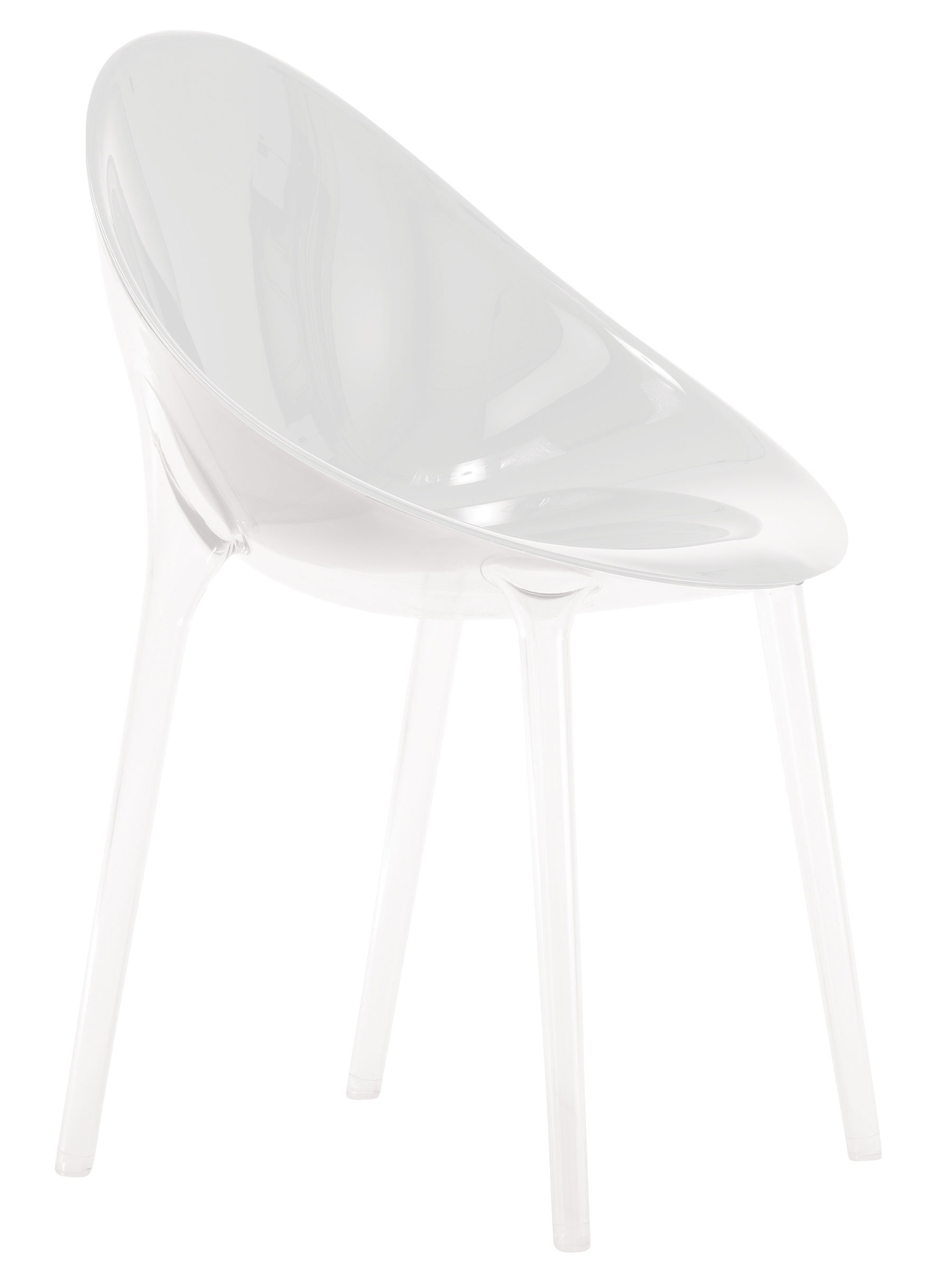 Furniture - Chairs - Mr. Impossible Armchair - opaque / Polycarbonate by Kartell - Opaque white - Polycarbonate