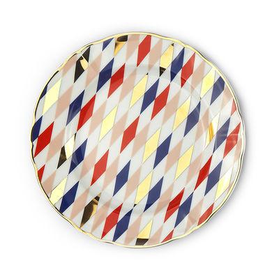 Arts de la table - Assiettes - Assiette à dessert Quadri / Ø 20,5 cm - Bitossi Home - Losange - Porcelaine