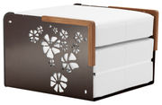 Kube Bettsessel in Sessel, Sonnenliege oder Couchtisch verwandelbar - EGO Paris - Weiß,Schokolade