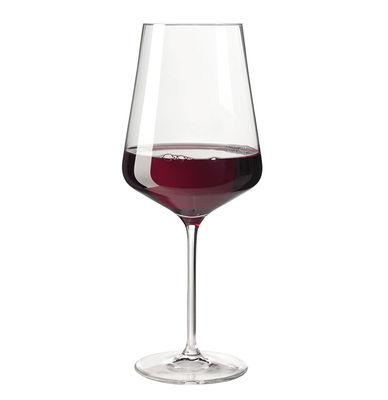 Tavola - Bicchieri  - Bicchiere da vino Puccini / Per Bordeaux - 75 cl - Leonardo - Trasparente - Vetro Teqton