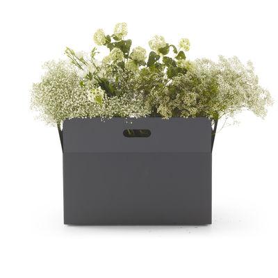 Jardin - Pots et plantes - Cache-pot Giardinetto Large / 76 x 43 x H 55 cm - Acier - Cinna - Large / 76 x 43 cm - Acier galvanisé