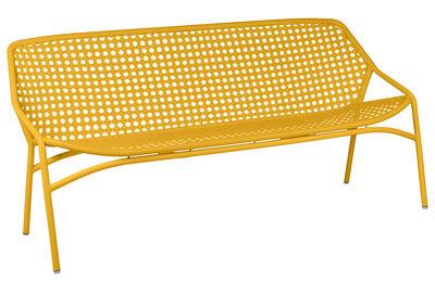 Canapé droit Croisette XL 3 places L 177 cm Plastique tressé Fermob miel en matière plastique