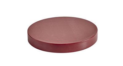 Kitchenware - Kitchen Equipment - Medium Chopping board - / Ø 25 cm - Polyethylene by Hay - Burgundy - Polythene