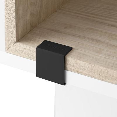 Mobilier - Etagères & bibliothèques - Clip d'assemblage / Pour étagères Stacked 2.0 - Lot de 5 clips - Muuto - Noir - Métal laqué