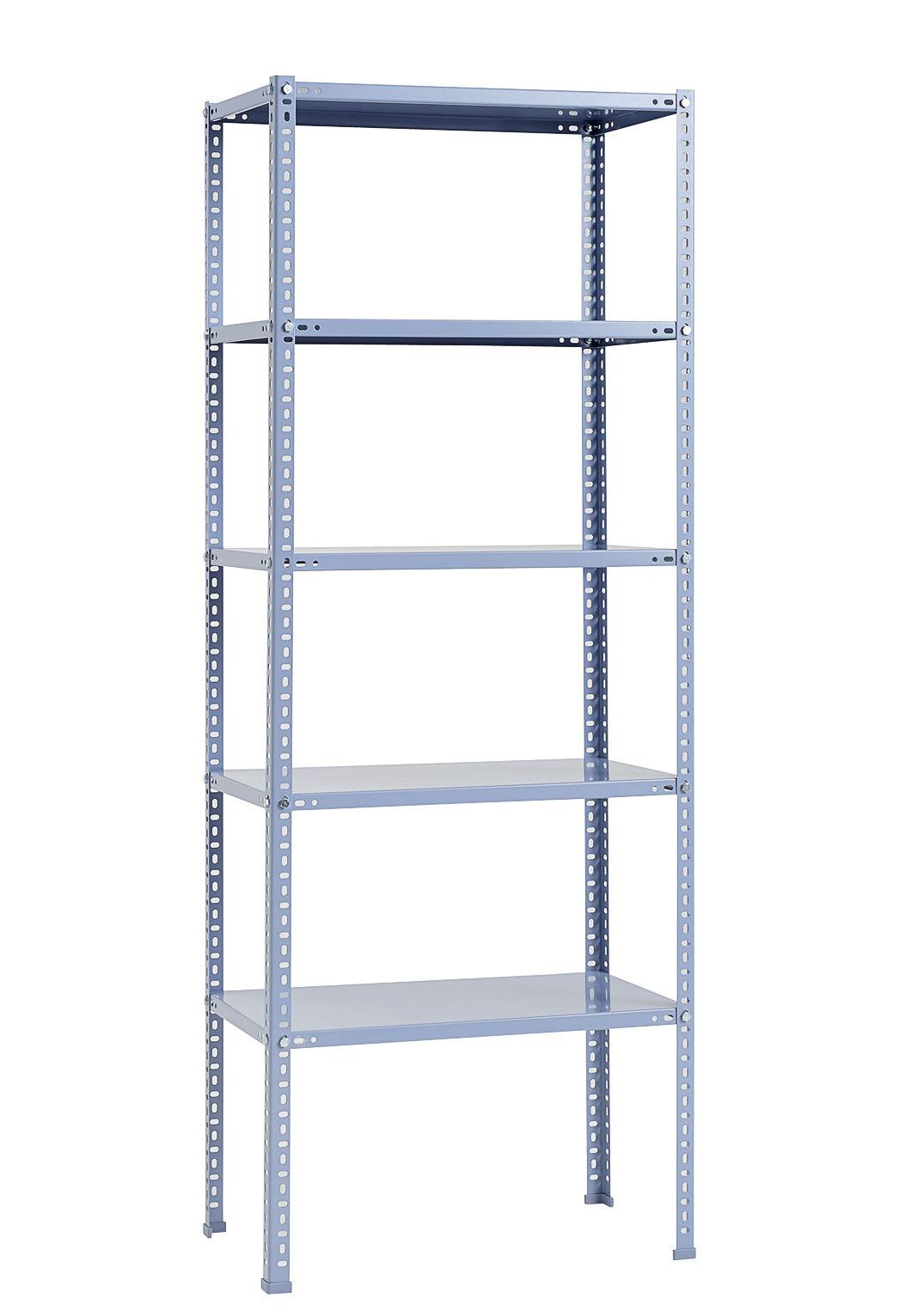 Mobilier - Etagères & bibliothèques - Etagère Shelving Unit / L 75 x H 200 cm - Métal - Hay - Bleu - Acier laqué époxy