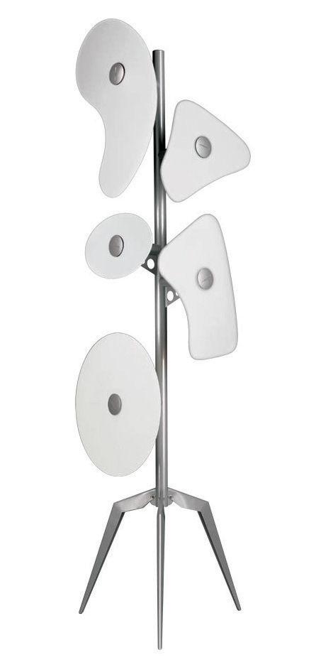 Illuminazione - Lampade da terra - Lampada a stelo Orbital di Foscarini - Bianco - metallo laccato, vetro satinato