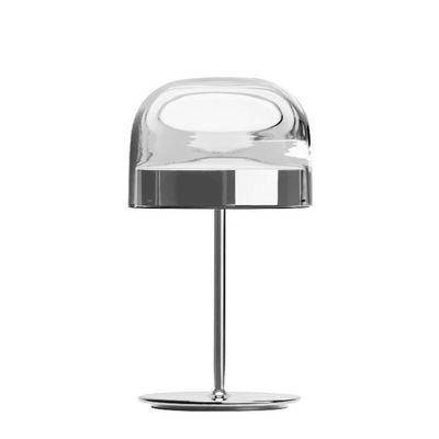 Illuminazione - Lampade da tavolo - Lampada da tavolo Equatore Small - / LED - Vetro - H 43 cm di Fontana Arte - Cromato e trasparente - Metallo, vetro soffiato