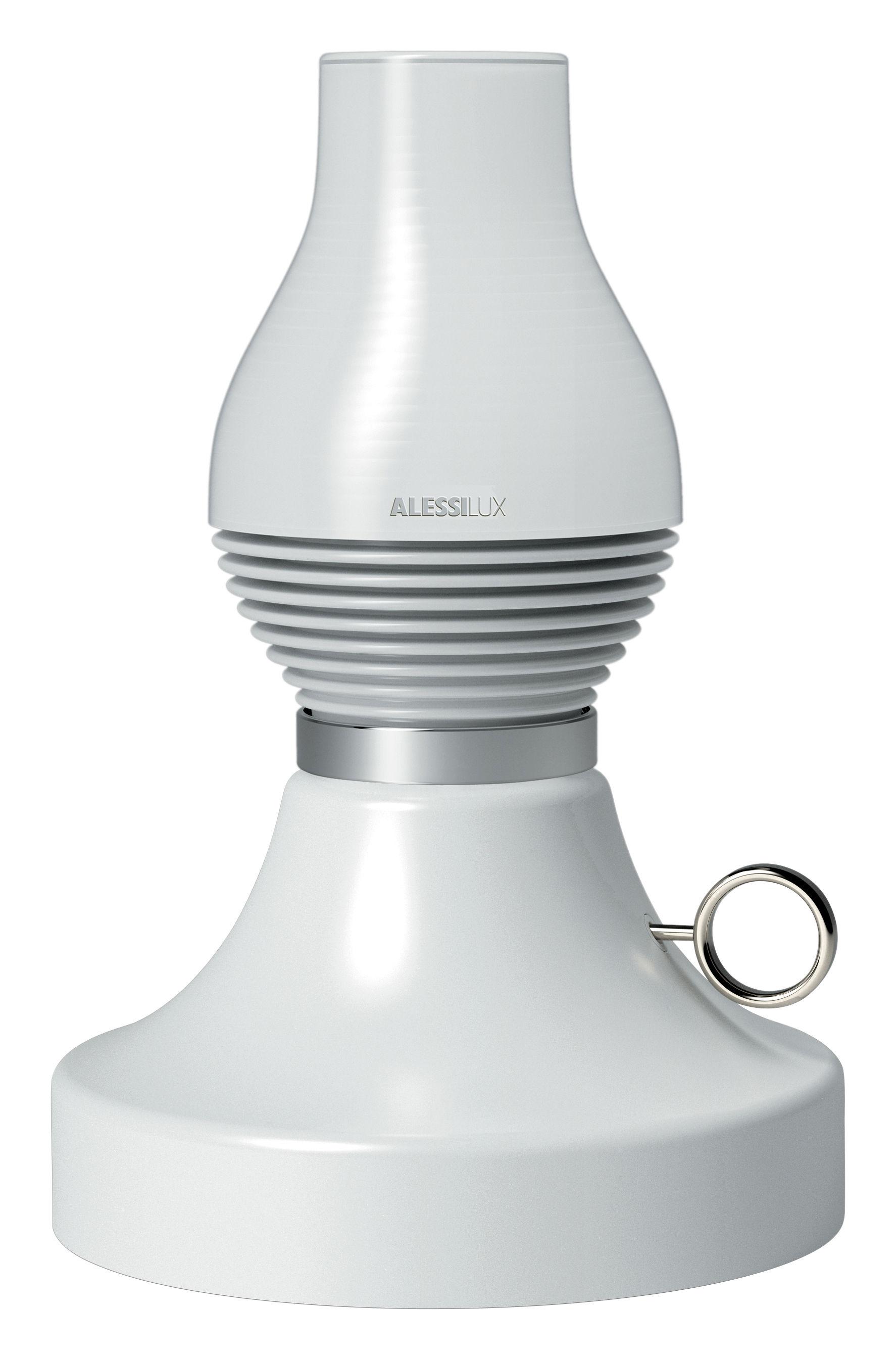 Lampada da tavolo lumi re paraffina alessilux base bianco lampadina bianca l 140 x h 16 1 x - Base lampada da tavolo ...