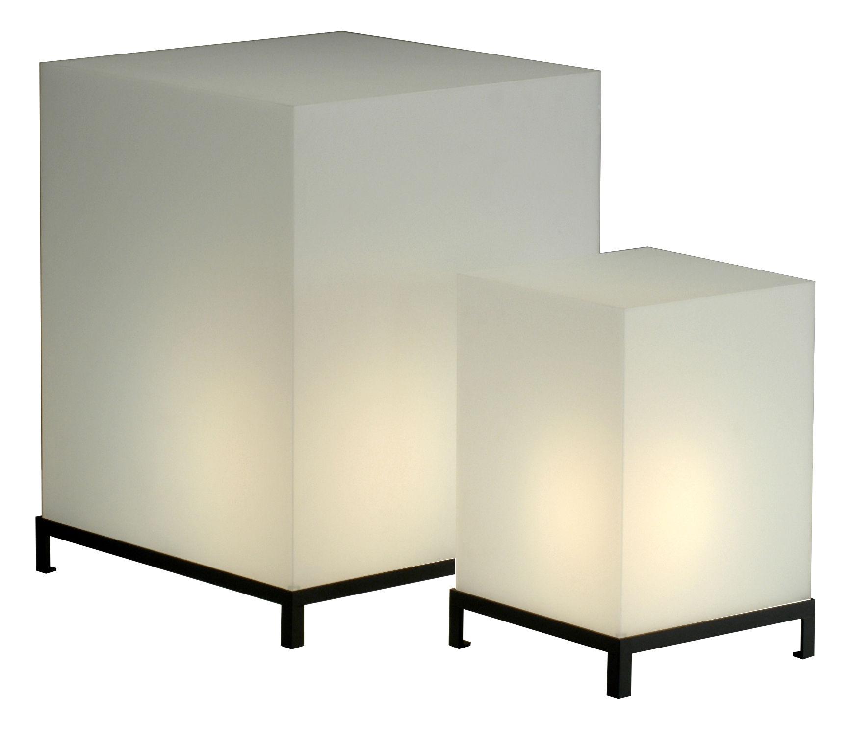 Illuminazione - Lampade da tavolo - Lampada da tavolo Star Cube di Zeus - Bianco - h 47 cm - Acciaio, Resina acrilica