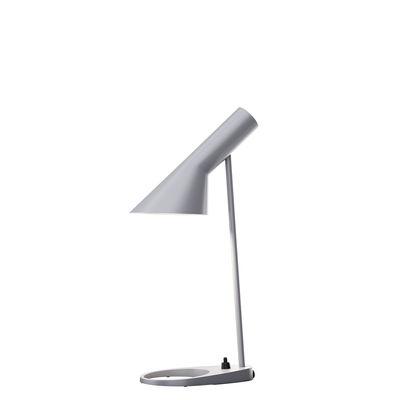 Lampe de table AJ Mini (1960) / H 43 cm - Louis Poulsen gris clair en métal